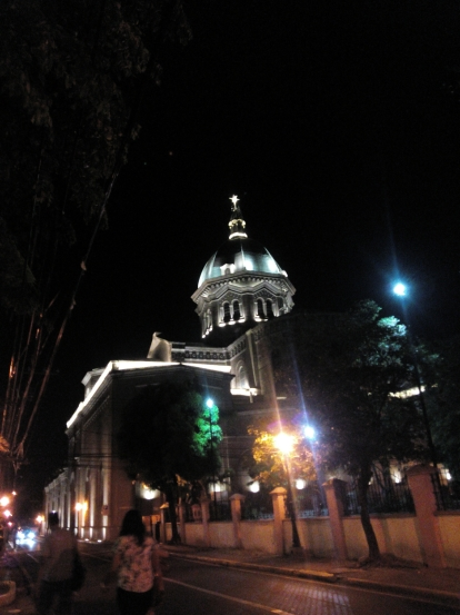 Manila Cathedral at night