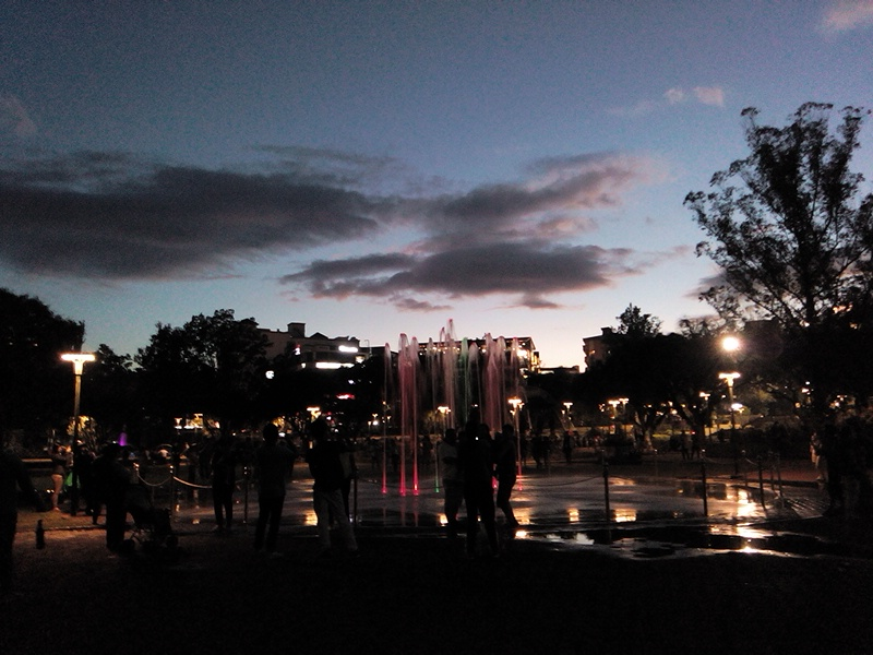 Burnham Park Baguio at Night